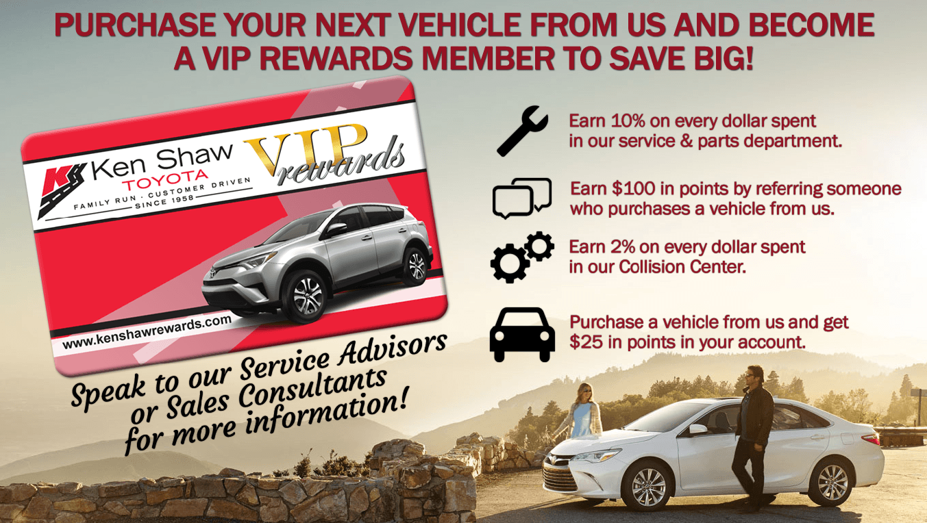 Ken Shaw Toyota Loyalty Rewards