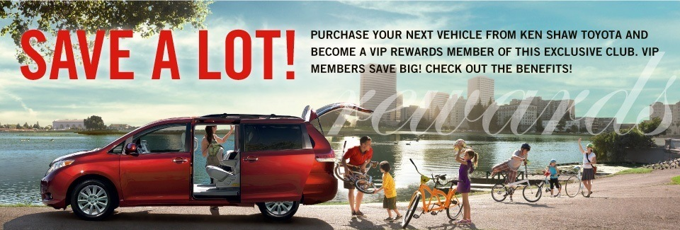 VIP Rewards Loyalty Program at Ken Shaw Toyota in Toronto, Ontario