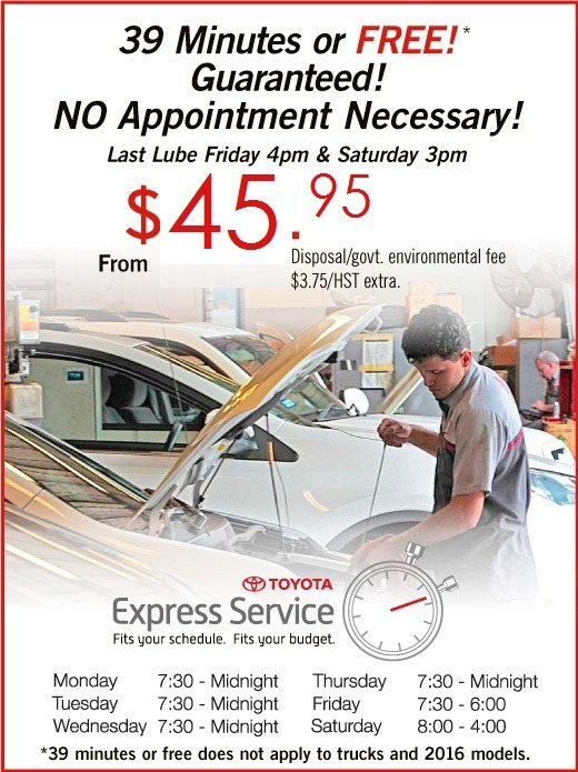 Toyota Express Lube Service - 2018