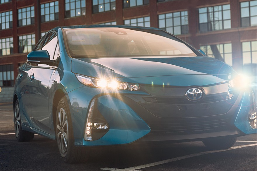2018 Toyota Prius Prime Plug-In Electric Hybrid Exterior at Ken Shaw Toyota in Toronto