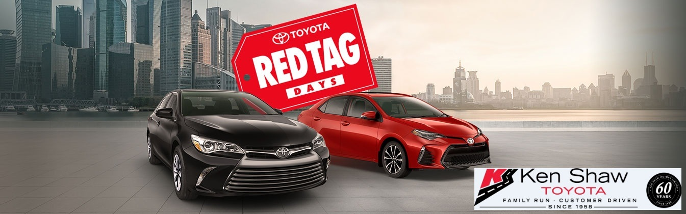 TOYOTA RED TAG DAYS ARE BACK!