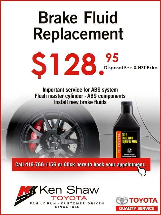 Toyota Brake Fluid Replacement - 2018