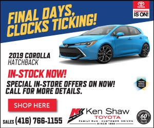 2019 Toyota Corolla Hatchback in Toronto Toyota dealership
