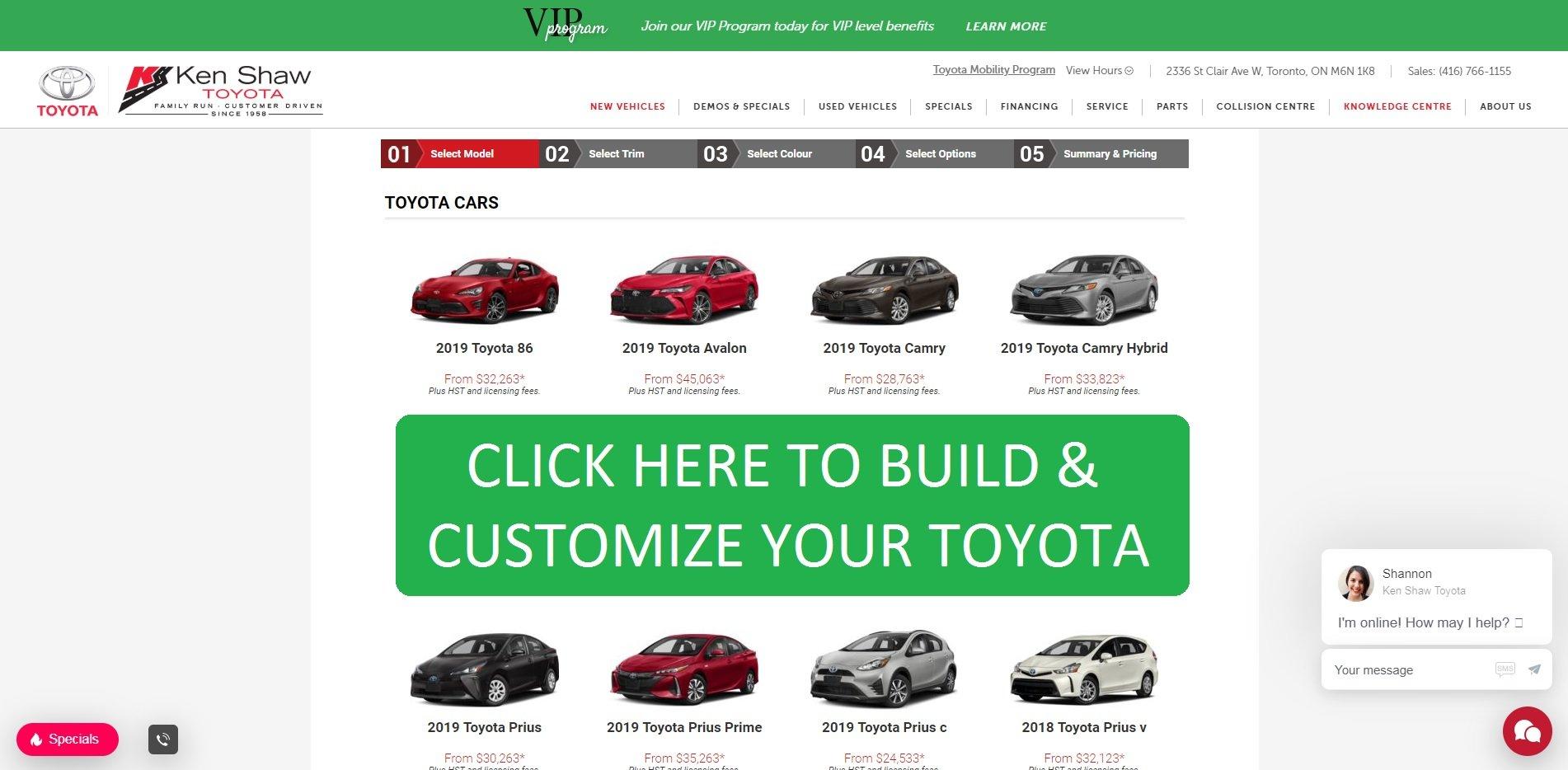 Toyota Build And Price >> Toyota Build And Price Ken Shaw Toyota