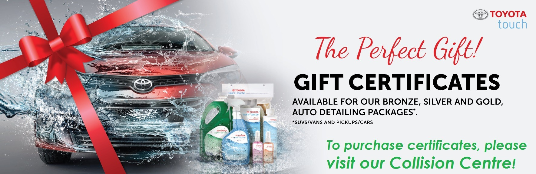 Toyota Touch Detailing Gift Certificates at Ken Shaw Toyota in Toronto, Ontario