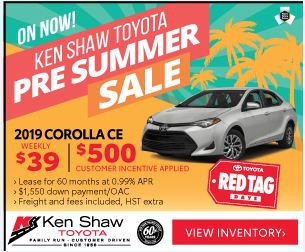 Toyota Toronto Promotions Red Tag Days - Ken Shaw Toyota