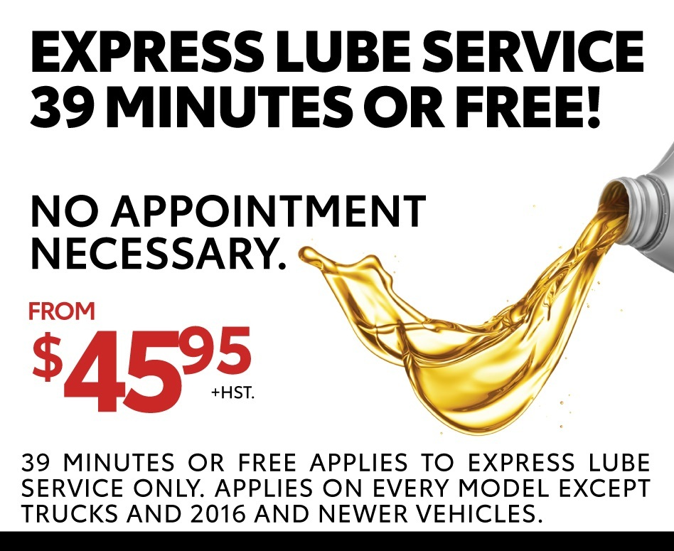 Express Service Lube – 39 minutes or FREE!