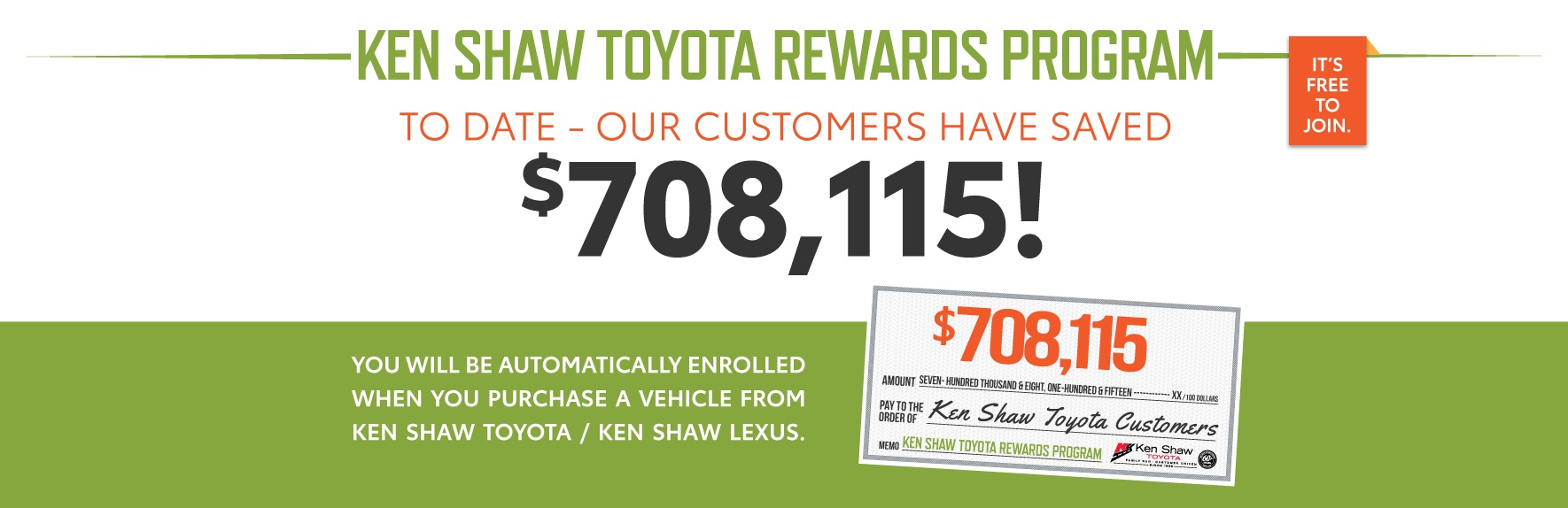Ken Shaw Toyota dealership in Toronto Ontario Loyalty Rewards VIP program