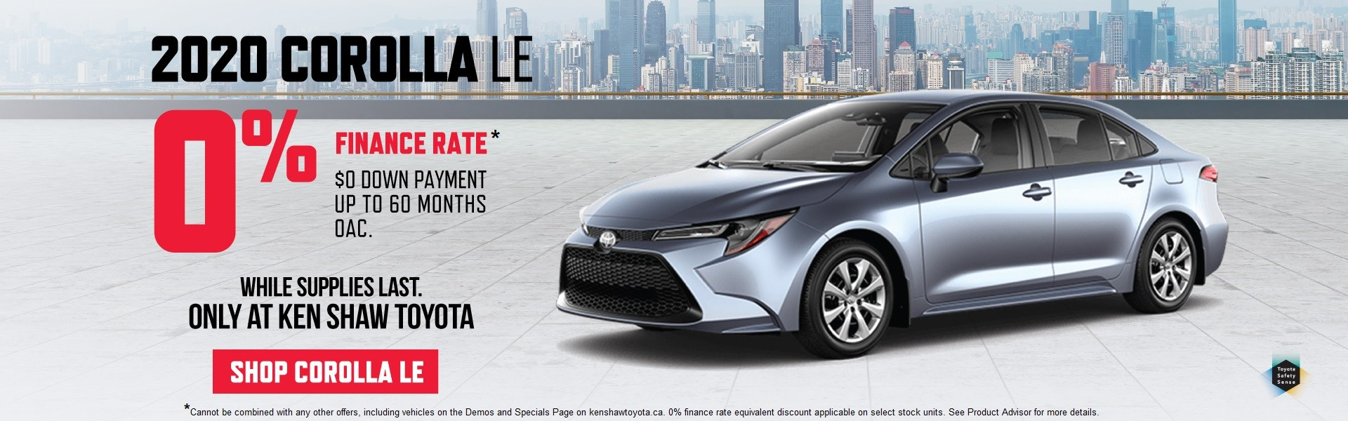 Corolla on sale at Ken Shaw Toyota in Toronto Promotion