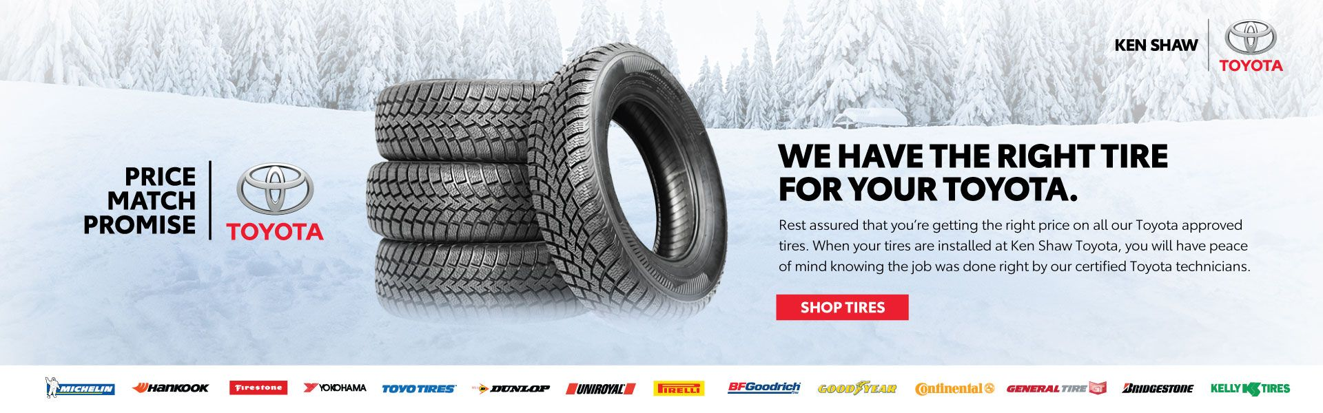 Toyota Winter Tires Price Match Promise at Ken Shaw Toyota in Toronto Ontario