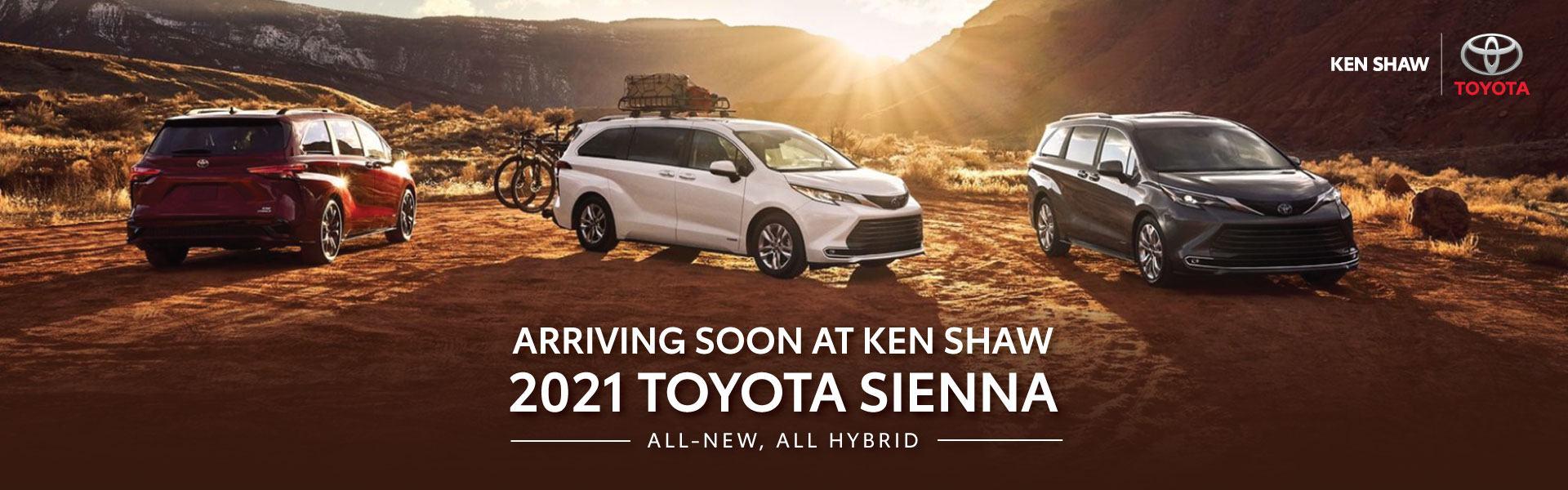 2021 Toyota Sienna Hybrid ken shaw toyota in toronto Ontario
