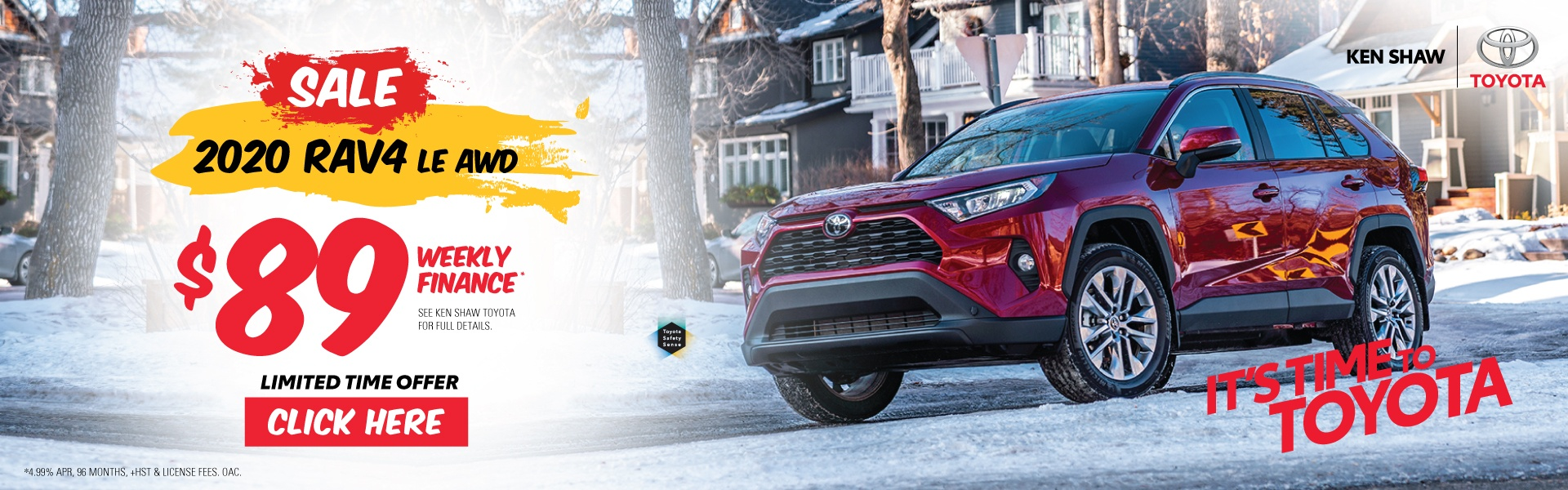 Ken Shaw Toyota Toronto Ontario 2020 RAV 4 LE CVT awd all wheel drive Sale best affordable SUV