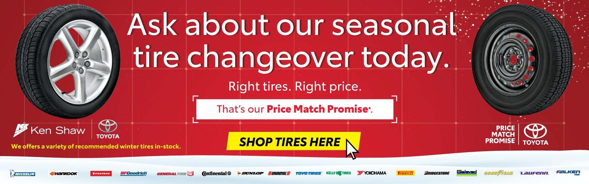 toyota tires price match promise in toronto ontario GTA winter tires sales